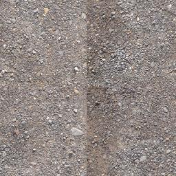 砂利道の写真(スクロールフィルタ適用)