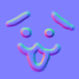 サンプルの法線マップ(困り顔)画像