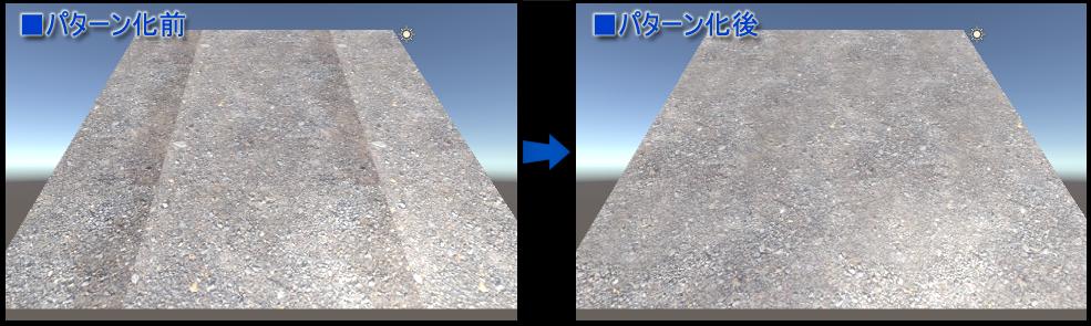 テクスチャのパターン化(Unity3Dで表示)